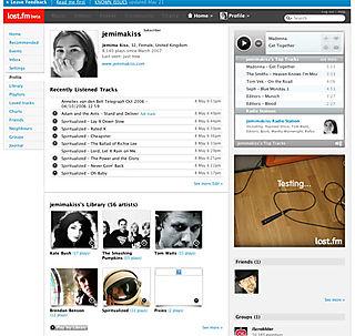 Last.fm new design